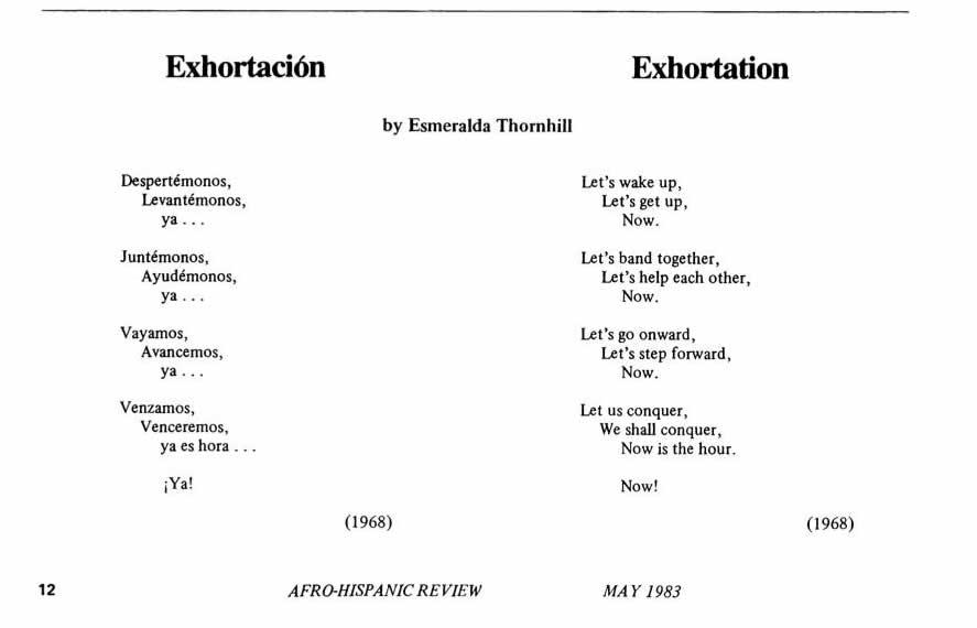Exhortacion - Exhortation
