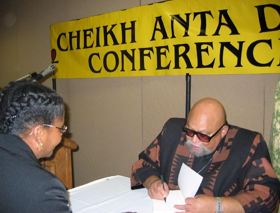 With Maulana Karenga, Creator of Kwanzaa, Cheikh Anta Diop Conference, Philadelphia, 2006