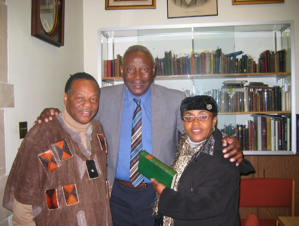 With Melefe Kete Asante and Charles Blockson, Director, the Blockson Center, Temple University, 2006