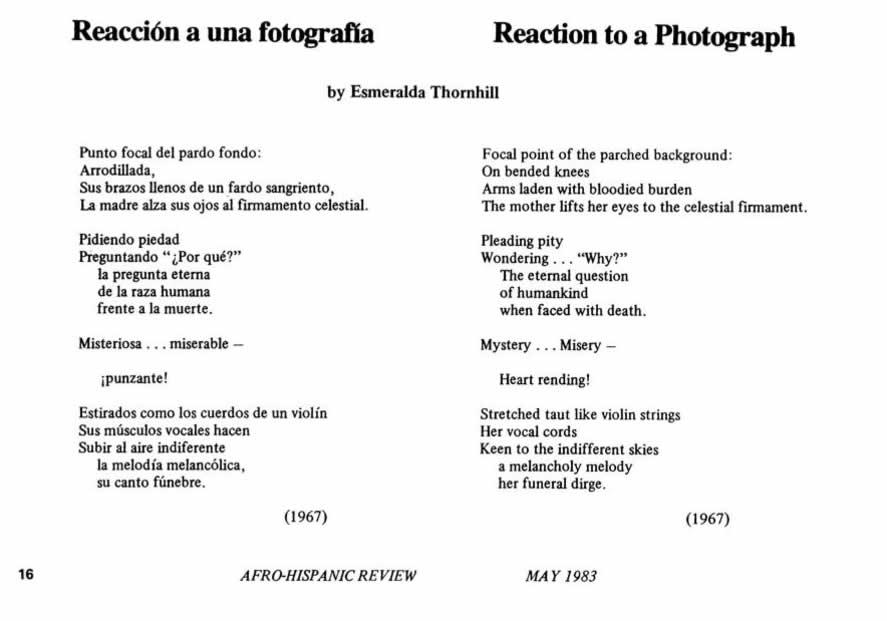 Reaccion a una fotografia - Reaction to A Photograph